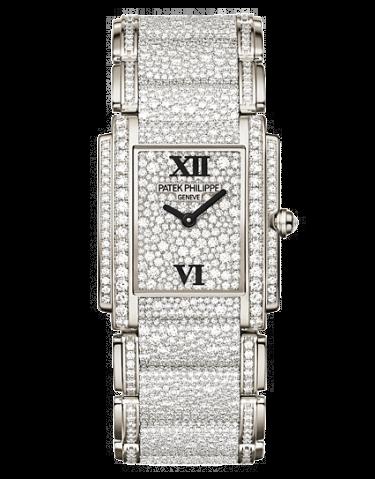 Patek Philippe 4910.52G 001 Twenty4 4910 White Gold Gridless Diamond