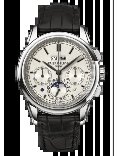 Patek Philippe 5270G 001 Perpetual Calendar Chronograph 5270 White Gold Silver