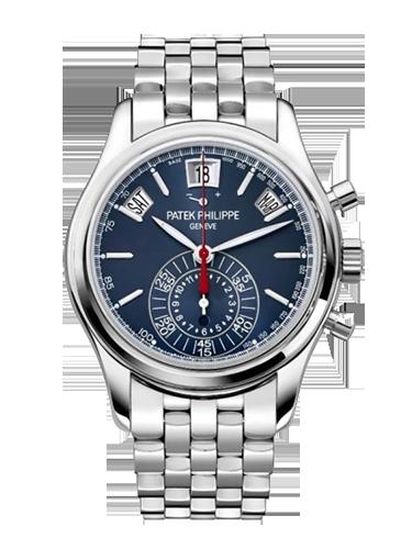 Patek Philippe 5960.1P 0XX Annual Calendar Chronograph 5960 Platinum Blue Bracelet