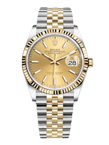 Rolex 126233 0015 26 Datejust 36 Stainless Steel Yellow Gold Fluted Champagne Jubilee
