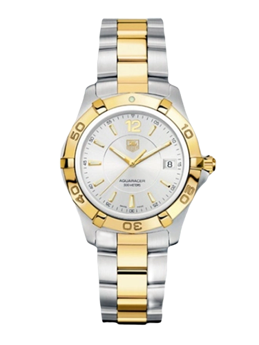 TAG Heuer WAF1120.BB0807 Aquaracer 300M Quartz 38.4 Stainless Steel Yellow Gold Silver Bracelet 1