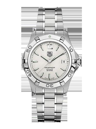 TAG Heuer WAF2111.BA0806 Aquaracer 300M Calibre 5 38.4 Stainless Steel Silver Bracelet 1